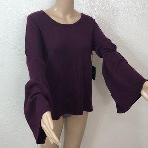 🆕 Cynthia Rowley 100% Merino Wool Bell Sleeve